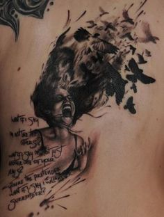 Ink Spill Tat. Foo Fighters Lyrics. Awesome Image.