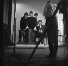 Robert Whitaker photographing the Beatles. He was their official documenter at the height of Beatlemania from 1964-1966.