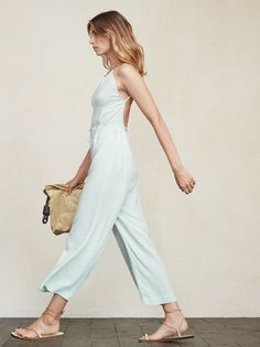 Sometimes making a full outfit is hard. We get it. The Mitra Jumpsuit will be there for you in these times of need. Just throw it on and you are ready for anything. https://www.thereformation.com/products/mitra-jumpsuit-soft-blue?utm_source=pinterest&utm_medium=organic&utm_campaign=PinterestOwnedPins