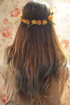 Ombre hair celeste y gris