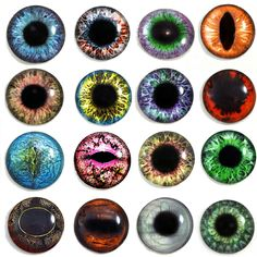 Pabol 24 MM  BLUE Glass Eyes Oval Flatback for reborns