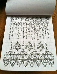 Desenhos Doodle e zentangle
