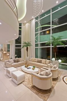 42 Luxury And Elegant Living Room Design - Luxurious living room spells different to everyone but each of us has a common notion of what is luxurious and not. Dream House Interior, Luxury Homes Dream Houses, Luxury Homes Interior, Dream Home Design, Luxury Home Decor, Modern House Design, Home Interior Design, Modern Mansion Interior, Interior Ideas