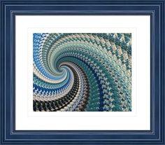 abstract blue 546 fractal, by  fractal mandala art