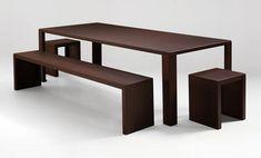 Scopri Tavolo Rusty Irony -160 cm x 80 cm, Ruggine - 160 x 80 cm di Zeus, Made In Design Italia