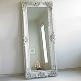 Ornate Wooden Mirror In Four Colours