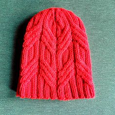 This hat was inspired by the gates of the NYC subway at Street station (Bronx bound D train FTW! I didn't realize until after designing this pattern that the same gates are used all over the subway system, but they will forever be my Street gates. Knitting Stitches, Knitting Patterns Free, Knitting Yarn, Knit Patterns, Free Knitting, Free Pattern, Cable Knit Hat, Knit Beanie, Knit Or Crochet
