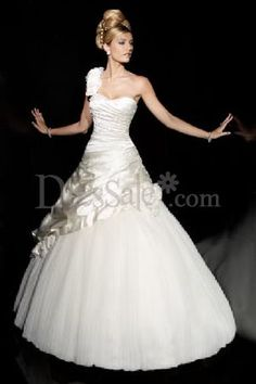 Satin Organza One Shoulder Milan Wedding Couture