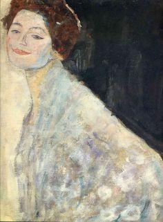 Portrait of a Lady in White (unfinished) - Gustav Klimt 1917-18