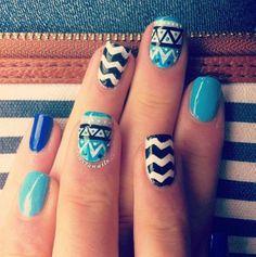 Tribal pattern nails! nail art