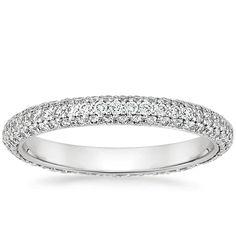Platinum Allure Eternity Diamond Ring from Brilliant Earth