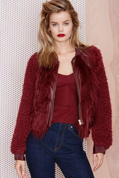 Three Floor Rosso Faux Fur Jacket   Shop Clothes at Nasty Gal