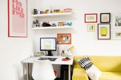 Gorgeous office in such a small space