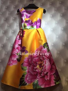 BunniesFairy Celebrity-inspired Women Elegant Vintage Retro Flower Floral Print Vest Dresses Sleeveless O-Neck Vestido de Fiesta