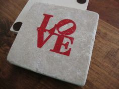 Personalized Love and Inspiration Coasters - Single Coaster by Rosi's Place   Hatch.co