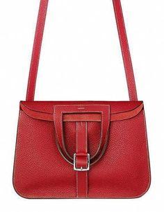 5d2c11f7ae1f Hermes - Halzan red leather handbag.  Chanelhandbags  redleatherhandbags   ladiesleatherhandbags