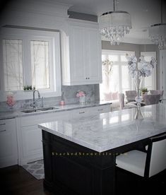 Home Decor Living Room Glamorous Kitchen Decor With River White Granite Countertop And Beautiful Kitchen Cabinet Beautiful Kitchens, Beautiful Kitchen Cabinets, Floating Shelves Kitchen, Kitchen Remodel, Kitchen Remodel Small, Rustic Kitchen, Kitchen Style, Kitchen Renovation, White Kitchen Design