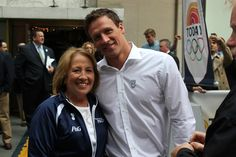 American swimming champion Ryan Lochte and his mother - NBC Today Show - London 2012 Olympics