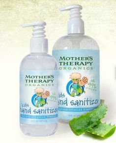 Mother's Therapy Organics has a full line of natural kid's hand sanitizer and lotions perfect for keeping your little one's hands germ-free and moisturized! (Click through for full review)