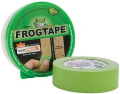 FrogTape 1396747 Multi-Surface Painter Tape Width x 45 yd Length Polymer Self-adhesive 1 Roll Green Tape Painting, Painting Tips, Painted Stairs, Painted Walls, Painted Furniture, Professional Painters, Paint Line, Green Frog, Duck Tape