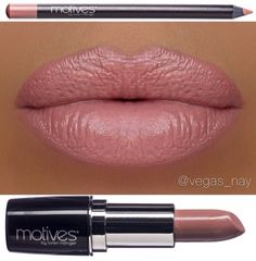 Loving these  by vegas_nay! Such a pretty color...lips lined w/ motives lip crayon in Naked & finished w/ New Motives Moisture Rich lipstick✨ available at www.IHEARTMOTIVES.com