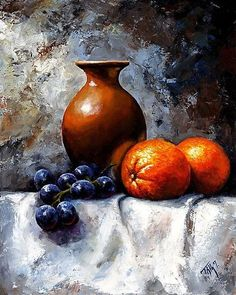 still life oil Still Life Drawing, Still Life Oil Painting, Acrilic Paintings, Still Life Images, Still Life Fruit, Fruit Painting, Fruit Art, Pastel Art, Still Life Photography