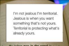 I'm Not Jealous