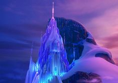 This is Elsa's castle in Frozen. A castle made of ice is the perfect place for The Snow Queen.