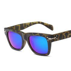 58293a4a01 Phoemix Fashion Square Big Classic Metal Accessories Pilot Women Sunglasses  Men Leopard Brand Designer Frame Plastic