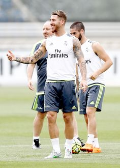 Sergio Ramos at evening Real Madrid training session | August 12, 2015 #footballislife
