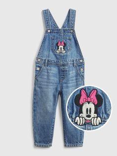 babyGap | Disney Minnie Mouse Denim Overalls with Washwell™ | Gap Disney Girls, Baby Disney, Baby Girl Pants, Toddler Girl Outfits, Toddler Girls, Denim Overalls, Baby Gap, Minnie Mouse, Cotton