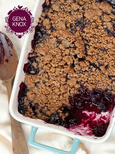 Blueberry Gingersnap Crumble