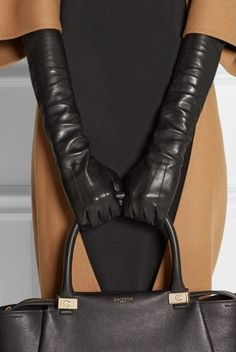 Leather gloves for extra warmth