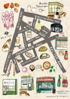 London Food Essentials - Livi Gosling Illustration
