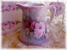 recieved my gorgeous hand painted PINK roses pitcher....LOVE IT<3<3