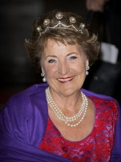 On May 19, 2016, King Willem-Alexander, Queen Maxima, Princess Beatrix and Princess Margriet of The Netherlands attended the gala dinner for the Corps Diplomatique at the Royal Palace in Amsterdam, The Netherlands.