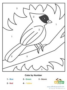 Bird Color By Number Worksheets Pattern Worksheets For Kindergarten, Preschool Number Worksheets, Animal Worksheets, Numbers Preschool, Printable Activities For Kids, Free Preschool, Preschool Themes, Montessori Activities, Preschool Kindergarten