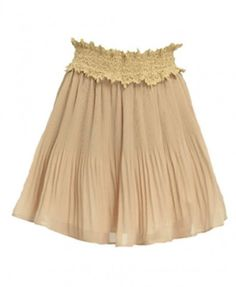 Chiffon Mini Skirts with Lace Corsets