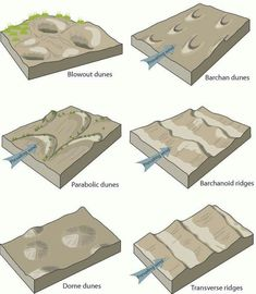 -Geology of the world and the environment- Types of sand dunes...