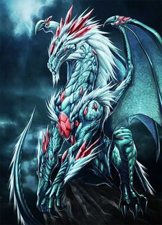 white dragon with jewels by Chaos-Draco on deviantART