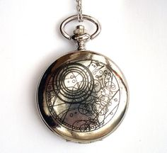 Doctor Who Pocket Watch WORKING Chameleon Arch, Silver