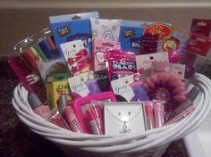 Flower girl gift basket