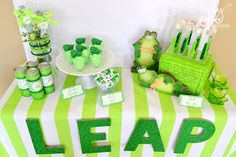 Leap Year Party - cute idea every 4 years http://www.greygreydesigns.com/2012/08/my-parties-aidens-green-whale-1st.html