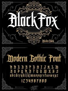 Black Fox font typography BlackLetter typeface FontDesign fonts GothicFont vintage bookcover creativemarket GraphicDesign design designresources BestDesignResources is part of Tattoo fonts alphabet - Gothic Lettering, Graffiti Lettering Fonts, Gothic Fonts, Tattoo Lettering Fonts, Lettering Styles, Calligraphy Fonts, Typography Letters, Typography Logo, Font Tattoo