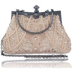 Bagood Women's Vintage Style Beaded And Sequined Evening Bag Wedding... ($26) ❤ liked on Polyvore featuring bags, handbags, clutches, sequin evening bags, hand bags, sequined clutches, party purses and handbags clutches #EveningBags