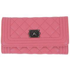 Prošívaná dámská peněženka DF030 pastelová růžová