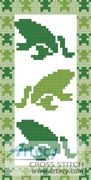 Frog Bookmark Counted Cross Stitch Pattern http://www.artecyshop.com/index.php?main_page=product_info&cPath=26&products_id=1078