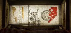 """Silver Code"" the CY Stephens Auditorium curtain, Iowa State University"