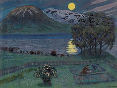 Uke 21: Nikolai Astrup, Maimåne, 1908. Håndkolorert fargetresnitt. Tilhører Nasjonalmuseet