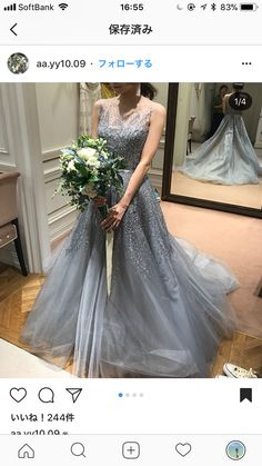 Disney Wedding Dresses, Colored Wedding Dresses, Wedding Colors, Debut Dresses, Tulle Dress, Gray Dress, Look Fashion, Bridal Style, Dress Making